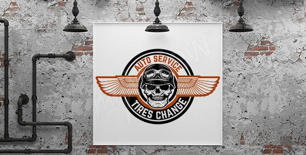 Poster motorisation pour garage