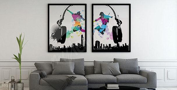 Poster musical en deux parties