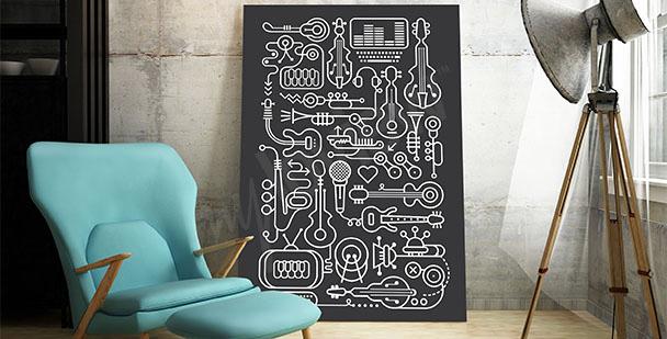 Poster musical moderne