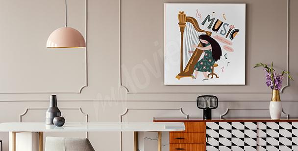 Poster musicien pour salle à manger