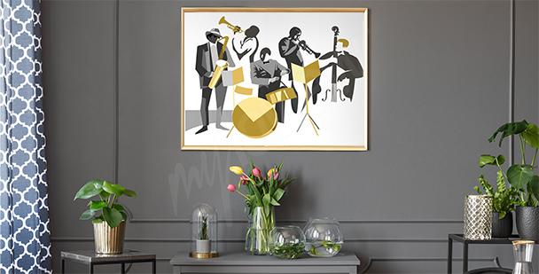 Poster musiciens de jazz