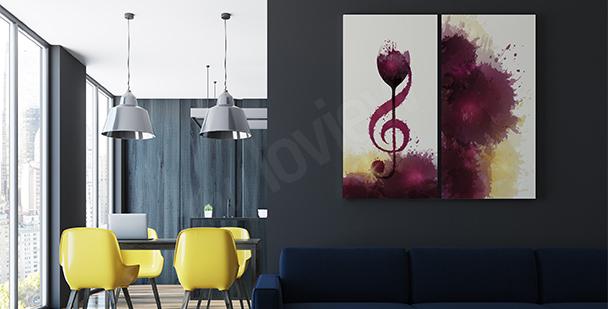 Poster musique et vin