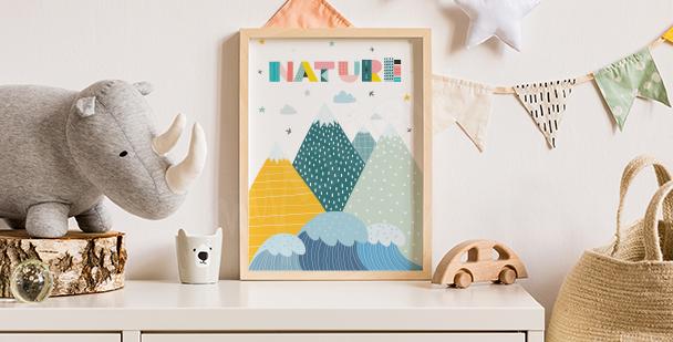 Poster nature: image nostalgique