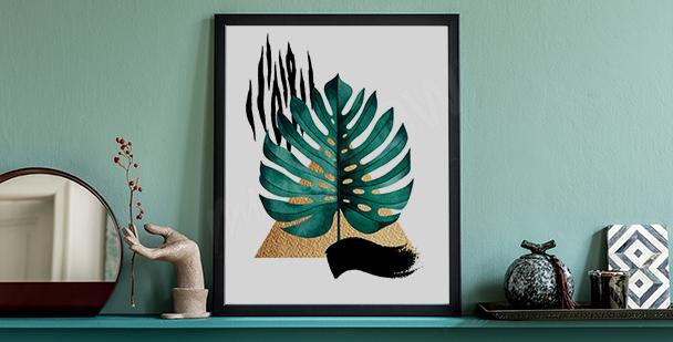 Poster plantes de couleurs pour salon