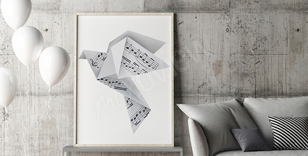 Poster origami musical