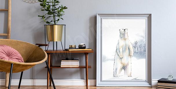 Poster silhouette d'éléphant