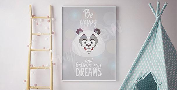 Poster panda pour enfant