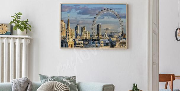 Poster panoramique de Londres