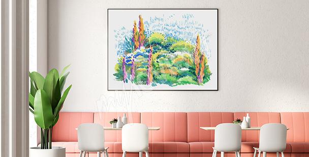 Poster parc aquarelle