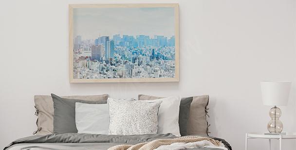 Poster pastel ligne d'horizon