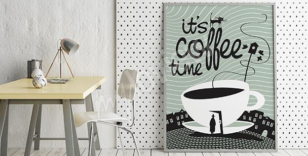 Poster pause café