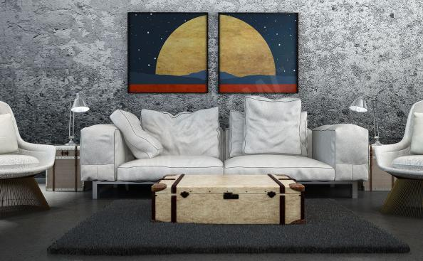Poster paysage cosmique