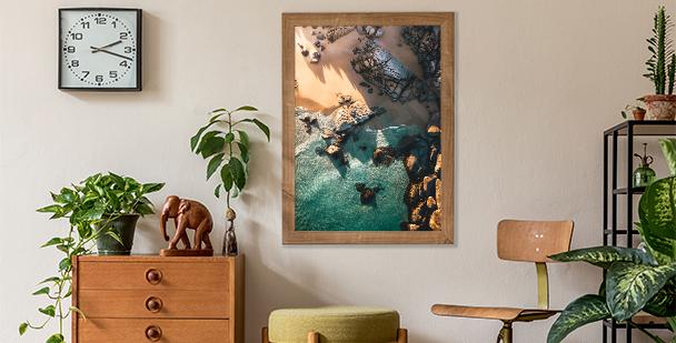 Poster paysage de bord de mer