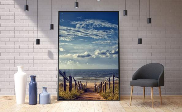 Poster paysage de mer au salon