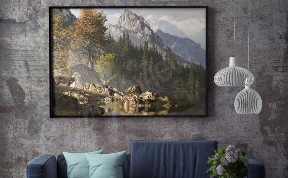 Poster paysage de montagne