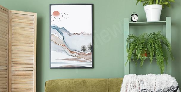 Poster paysage moderne