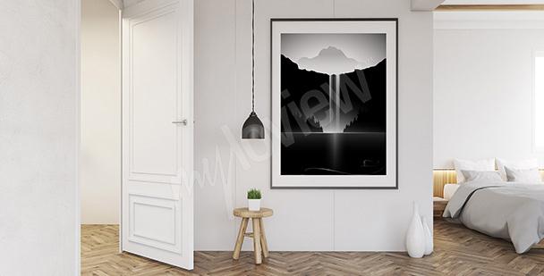 Poster paysage noir et blanc