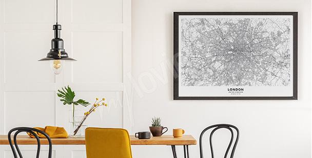 Poster plan de ville de Londres