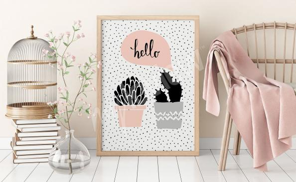 Poster plantes style scandinave