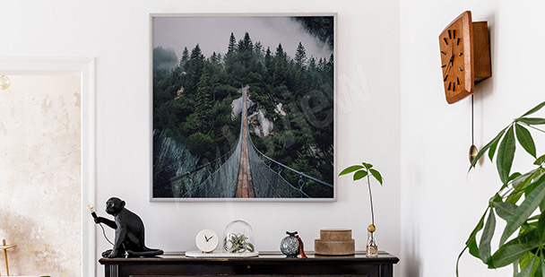 Poster pont effet de profondeur