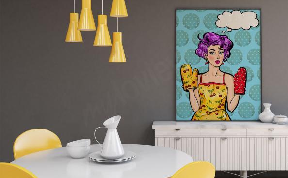 Poster pop'art femme