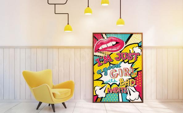 Poster pop'art pour les filles