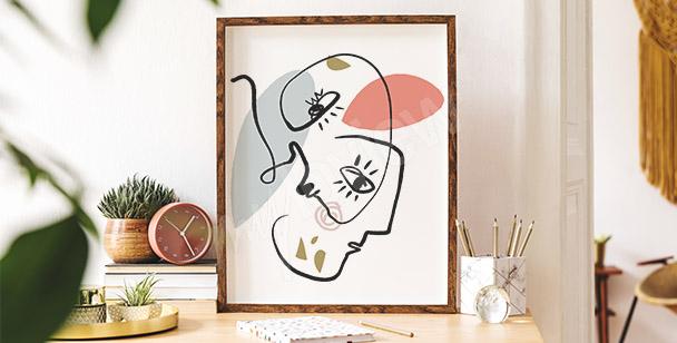 Poster portrait abstrait