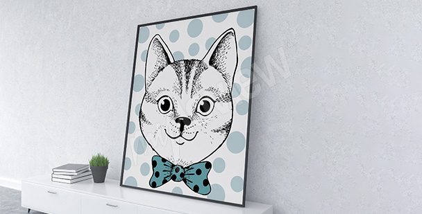 Poster portrait de chat