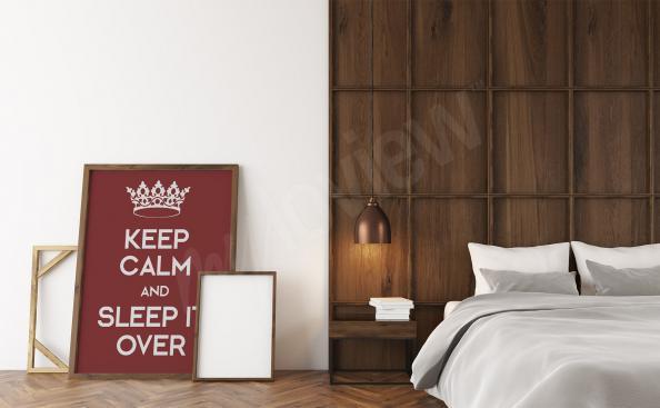 Poster pour chambre à coucher typographique