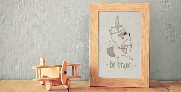 Poster pour d'enfant – raton laveur
