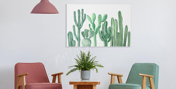 Poster pour entrée cactus