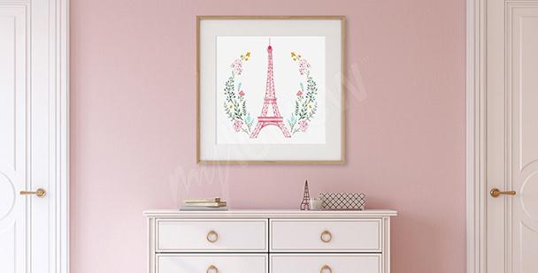 Poster pour entrée Tour Eiffel
