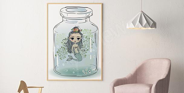 Poster pour fille petite sirène