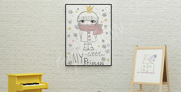 Poster pour fille: princesse
