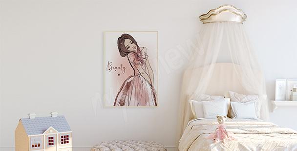 Poster pour fille princesse