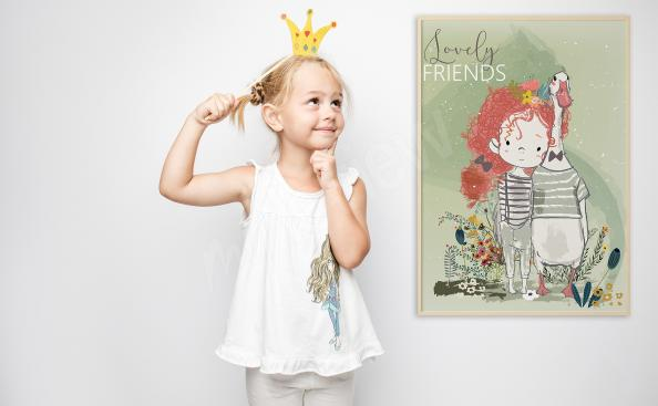 Poster pour petite fille amis proches