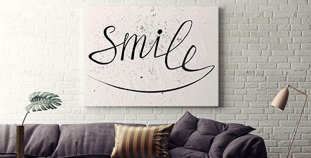 Poster pour salon - sourire
