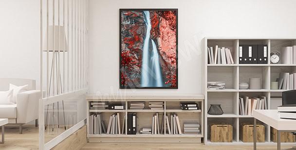 Poster ravin avec chute d'eau