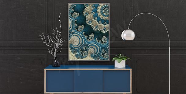 Poster récif corallien abstrait