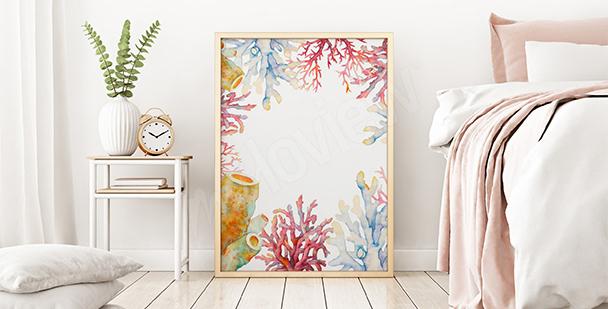 Poster récif corallien aquarella