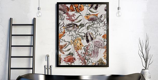 Poster récif corallien et poissons