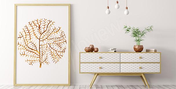 Poster récif corallien minimaliste