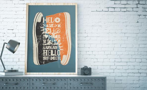 Poster rétro pour un adolescent