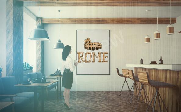 Poster Rome pour restaurant