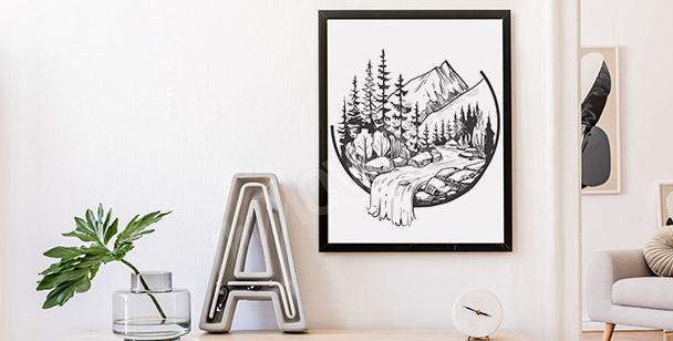 Poster ruisseau de montagne