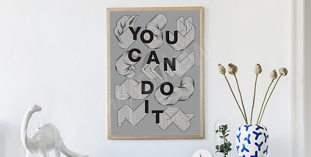 Poster slogan graphique