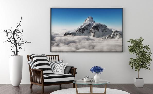 Poster sommet de la montagne
