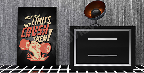 Poster - sport motivant