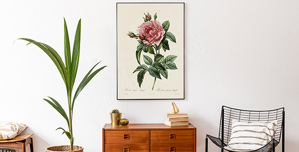 Poster style floral