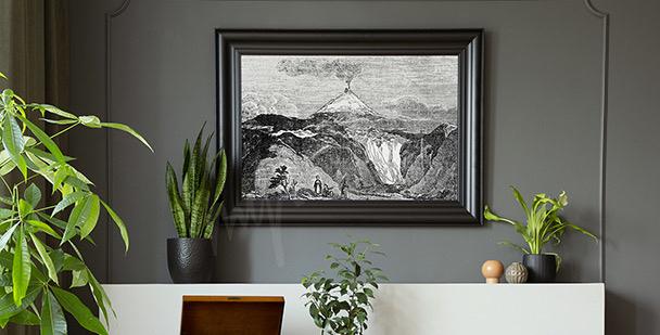 Poster rivière de montagne